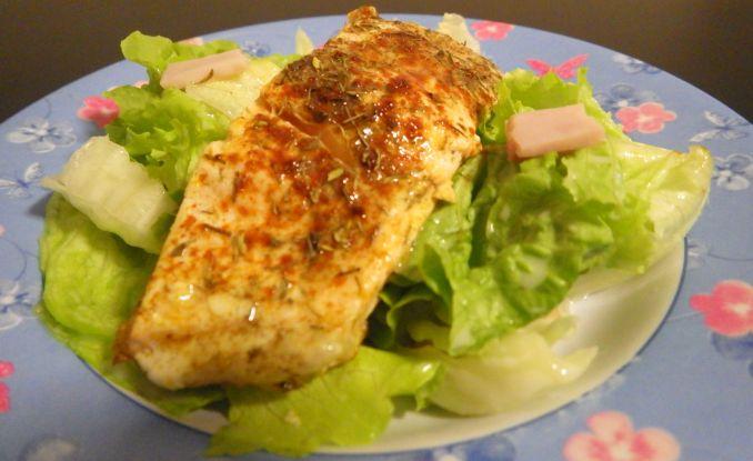 24-Stunden-Diät Abendesse: Lachs mit Salat